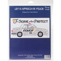 """Imaginating Counted Cross Stitch Kit 12""""X6""""-Let's Appreciate Police (14 Count)"""