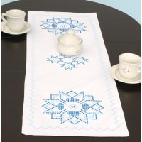 """Jack Dempsey Stamped Table Runner/Scarf 15""""X42""""-XX Star"""