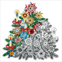 """Design Works/Zenbroidery Stamped Embroidery Kit 10""""X10""""-Christmas Tree"""
