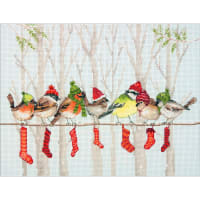 """Dimensions Counted Cross Stitch Kit 12""""X9""""-Winter Gathering (14 Count)"""