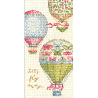 "Dimensions Counted Cross Stitch Kit 4""X8""-Let's Fly Away (18 Count)"