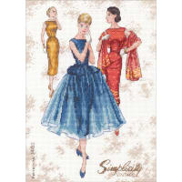 """Dimensions Counted Cross Stitch Kit 9""""X12""""-Simplicity Vintage (14 Count)"""