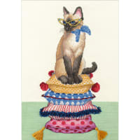 """Dimensions Counted Cross Stitch Kit 10""""X14""""-Cat Lady (14 Count)"""