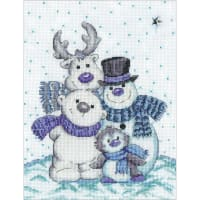 "Design Works Counted Cross Stitch Kit 8""X10""-Snow Pals (14 Count)"