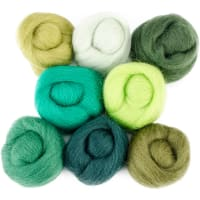 "Wistyria Editions Wool Roving 12"" .25oz 8/Pkg-Jungle"