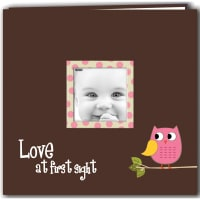 "Pioneer Baby Owl Post Bound Album 12""X12""-Pink"