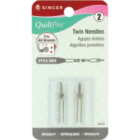 Singer Quiltpro Twin Machine Needles-Size 14/90 2/Pkg