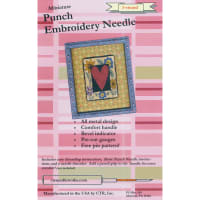 CTR Needleworks Miniature Punch Embroidery Needle-Red 3-Strand
