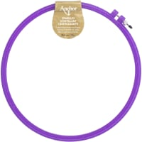"""Anchor Sparkle Plastic Embroidery Hoop Assorted Colors-10"""" Diameter Blue, Purple Or Yellow"""