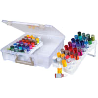 "ArtBin Super Satchel W/Glitter Glue Trays-15""X14""X3.5"" Translucent"