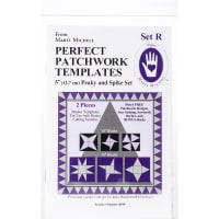 Marti Michell Perfect Patchwork Template-Set R - Peaky & Spike 2/Pkg
