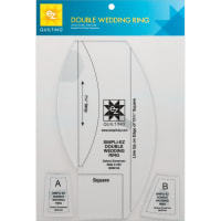 EZ Quilting Double Wedding Ring Template-3/Pkg