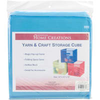 "Innovative Home Creations Yarn & Craft Storage Cube -Sky Blue 12""X12""X12"""