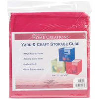 "Innovative Home Creations Yarn & Craft Storage Cube -Fuchsia 12""X12""X12"""