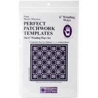 """Marti Michell Perfect Patchwork Template-Winding Ways 6"""" 3/Pkg"""
