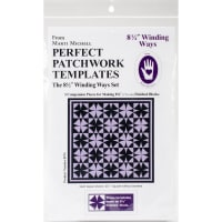 """Marti Michell Perfect Patchwork Template-Winding Ways 8.5"""" 3/Pkg"""