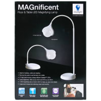Daylight MAGnificent Floor/Table LED Magnifying Lamp-White