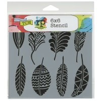 """Crafter's Workshop Template 6""""X6""""-Fancy Feathers"""