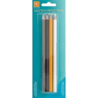 EZ Quilting Pencils 4/Pkg-White, Gray, Yellow & Black