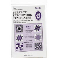Marti Michell Perfect Patchwork Template-Set E - 8 Pointed Star Set 7/Pkg