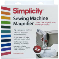 Wrights Sewing Machine Magnifier-White & Red