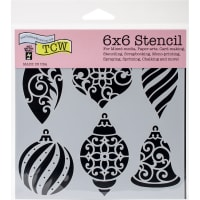 "Crafter's Workshop Template 6""X6""-Ornaments"