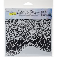 """Crafter's Workshop Template 6""""X6""""-Crazy Waves"""