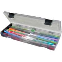 "ArtBin Pencil Box-12.38""X4.875""X1.75"" Translucent Charcoal"