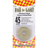 Roll The Gold! Titanium Coated Rotary Cutting Blade Refill-45mm 2/Pkg