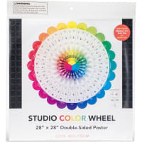 "Studio Color Wheel 28""X28"" Double-Sided Poster"