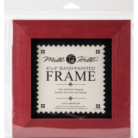 """Mill Hill Wooden Frame 6""""X6""""-Holiday Red"""
