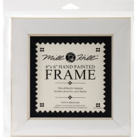 """Mill Hill Wooden Frame 6""""X6""""-Antique White"""