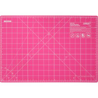 "OLFA Splash Gridded Cutting Mat 12""X18""-Fairy Floss Pink"