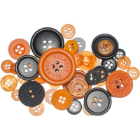 Buttons Galore Button Mason Jars-Halloween