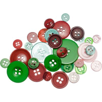 Buttons Galore Button Mason Jars-Retro Christmas