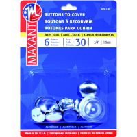 "Maxant Button Cover Button Kit-Size 30 3/4"" 6/Pkg"