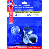 "Maxant Button Cover Button Kit-Size 45 1-1/8"" 4/Pkg"