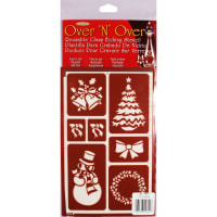 "Over 'N' Over Reusable Stencils 5""X8""-Christmas"