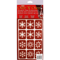 "Over 'N' Over Reusable Stencils 5""X8""-Snowflakes"