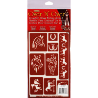 "Over 'N' Over Reusable Stencils 5""X8""-Horses"