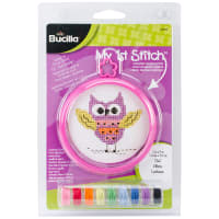 "Bucilla/My 1st Stitch Mini Counted Cross Stitch Kit 3"" Round-Owl (14 Count)"