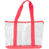 """Innovative Home Creations All-Purpose Clear Tote Bag-Red 19""""X14""""X6"""""""