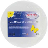 "Bosal Craf-Tex Round Place Mat Craft Pack-16"" 4/Pkg"