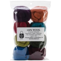 "Wistyria Editions Wool Roving 12"" .25oz 8/Pkg-The Bouquet"