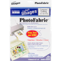 """Crafter's Images Sew-In PhotoFabric 8.5""""X11"""" 5/Pkg-100% Cotton Canvas"""