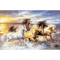 """RIOLIS Counted Cross Stitch Kit 23.5""""X15.75""""-In The Sunset (14 Count)"""