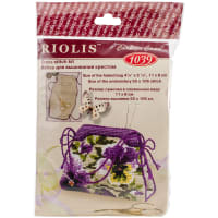 """RIOLIS Counted Cross Stitch Kit 4.25""""X3.25""""-Pansy Pincushion (14 Count)"""