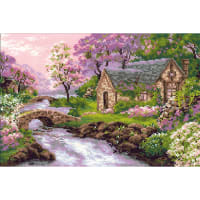 "RIOLIS Counted Cross Stitch Kit 15""X10.25""-Spring View (14 Count)"