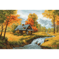 "RIOLIS Counted Cross Stitch Kit 15""X10.25""-Autumn View (14 Count)"