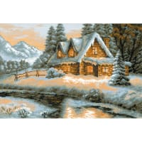 "RIOLIS Counted Cross Stitch Kit 15""X10.25""-Winter View (14 Count)"